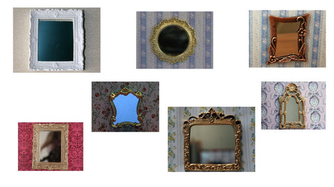 12th scale dollshouse miniature mirror
