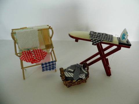 12th scale dollhouse miniature wash day items