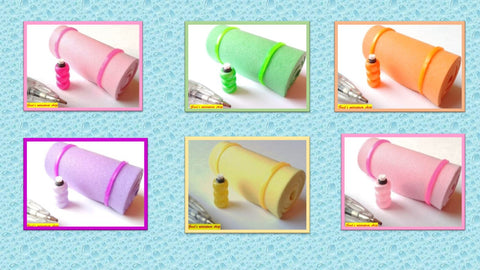 12th scale dollhouse miniature handmade yoga/pilates mat and water bottle various colours