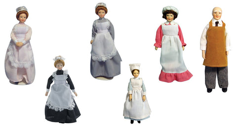 12th scale dollhouse miniature poseable domestic staff