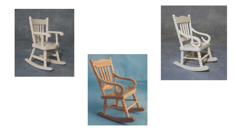 1/12 scale dollhouse miniature rocking chair