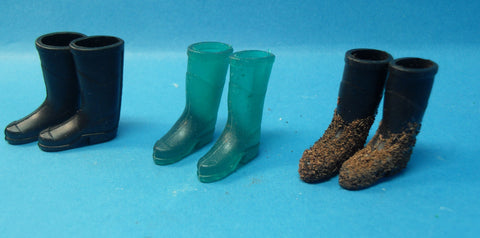 1/12 dollshouse miniature wellington boots