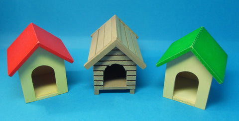 1/12 scale doll house miniature dog kennel in various colours