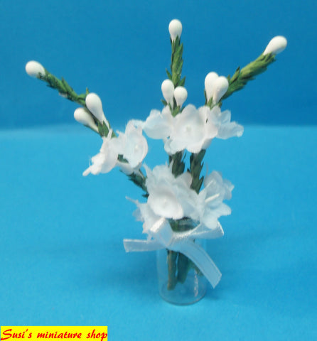 1:12 dollshouse miniature handmade vase of flowers
