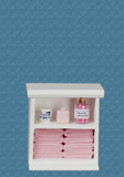 1/12 dollshouse miniature small dressed bathroom unit