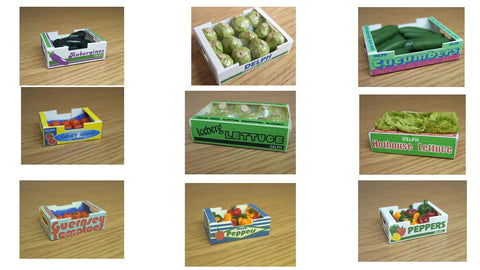 1/12 scale dollhouse miniature handmade carton of salad items