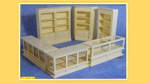 1:12 dollhouse miniature 6 piece cream shop set