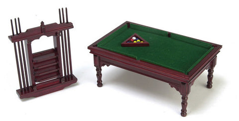 12th scale dollhouse miniature pool/billiard table