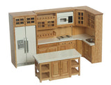 12th scale dollhouse miniature a 8 piece  modern  kitchen set