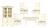 12th scale dollshouse miniature dining room set