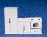1:12 scale dolls house miniature 3 pcs kitchen set (doors open) 5 to choose.