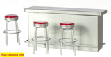1:12 scale dolls house miniature retro 1950's  bar  & 3 stools 5 to choose