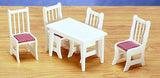 1/12 scale dollhouse miniature kitchen table and chairs