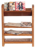 12th scale dollhouse miniature books on shelf
