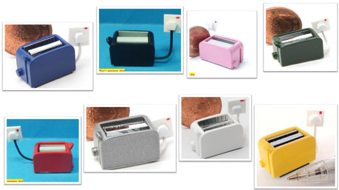 12th scale dollhouse miniature choice of modern non working toasters various colours