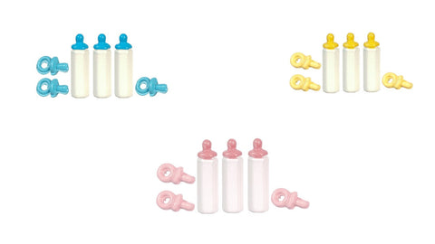 12th scale dollhouse miniature baby bottles and dummies