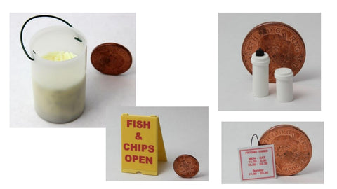 1/12 dollshouse miniature chip shop items