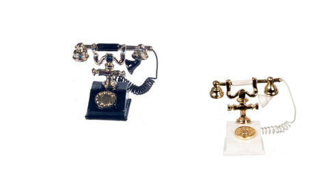 12th scale dollshouse miniature classic style telephone