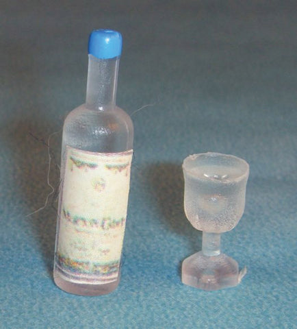 1/12 scale dollshouse miniature drinks and glass