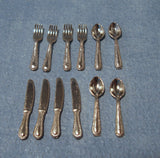 1:12 scale dollhouse miniature selection of cutlery sets