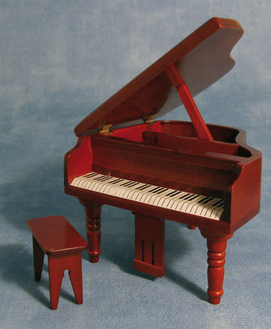 1:12 dollshouse miniature mahogany piano