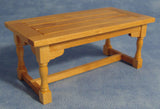 1/12 scale dollhouse miniature pine kitchen table