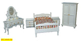 12th scale dollhouse miniature complete bedroom set 3 colours to choose