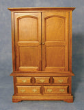 1:12 scale dollhouse miniature pine wardrobe