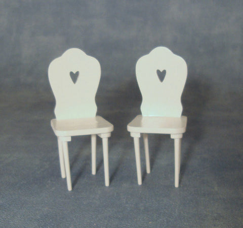1/12 scale dollhouse miniature pair of kitchen chairs