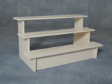 12th scale dollshouse miniature tiered shop shelves