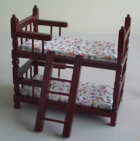 12th scale dollhouse miniature modern bunkbeds