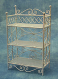 1:12 scale dolls house miniature white wire shelving  3 to choose from.
