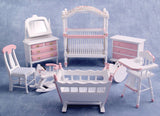 12th scale dollshouse miniature 8 piece nursery set