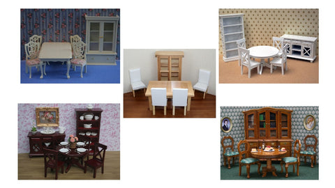 1/12 dollshouse miniature dining room set