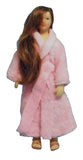 12th scale dollshouse miniature poseable lady or man in bathrobe
