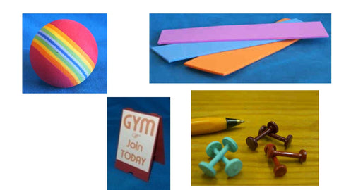 1/12 dollshouse miniature  modern gym accessories