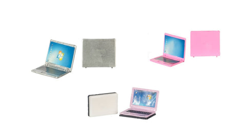 12th scale dollhouse miniature metal laptop