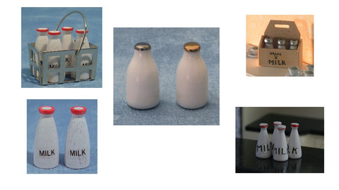 1/12 dollshouse miniature bottles of milk