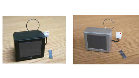 1/12 dollshouse miniature modern portable TV