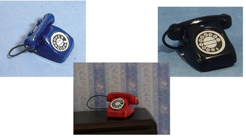 1/12 dollshouse miniature telephone 3 to choose from
