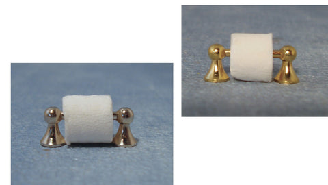 1/12 scale dollhouse miniature toilet roll on holder