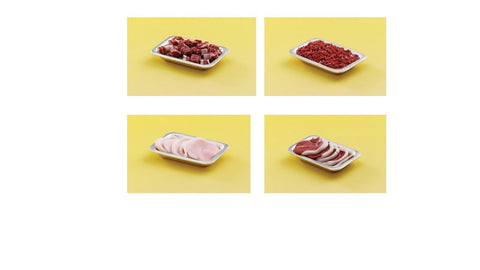 1/12 scale dollhouse miniature tray of meat 4 to choose