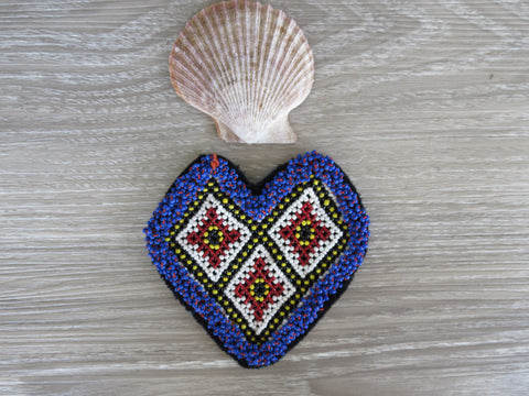 Kuchi Patchy Patch - Beaded Heart