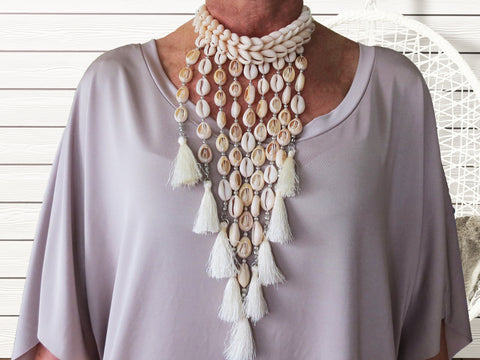 Sea + Salt -Nohea Tassel Choker - SeaCircus Collections  - 1