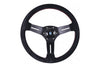 NARDI COMPETITION 330MM STEERING WHEEL - BLACK SUEDE / RED STITCH
