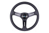 NARDI COMPETITION 330MM STEERING WHEEL - BLACK PERFORATED LEATHER / GREY STITCH