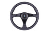 NARDI 3/0 GARA 350MM STEERING WHEEL - BLACK LEATHER / BLACK STITCH