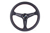 NARDI SPORT RALLY DEEP CORN QUAD 350MM STEERING WHEEL - BLACK PERFORATED / RED STITCH