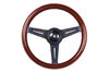 NARDI CLASSIC WOOD STEERING WHEEL W/ BLACK SPOKES
