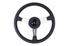 NARDI CLASSICO SATIN 365MM STEERING WHEEL - BLACK LEATHER / SATIN SILVER SPOKES / BLACK STITCH